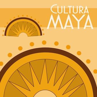 Cultura maya-ansichtkaart