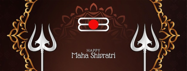 Cultureel indisch festival maha shivratri bannerontwerp