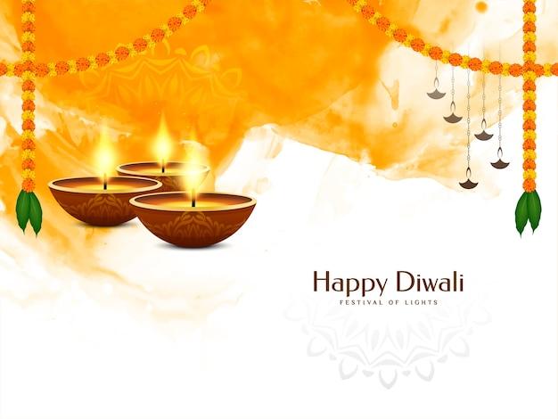 Culturele happy diwali festival viering achtergrond