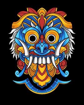 Cultuur masker illustratie