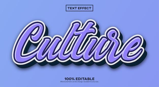 Cultuur teksteffect
