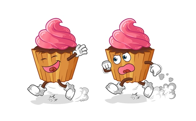 Cup cake spelen achtervolging cartoon
