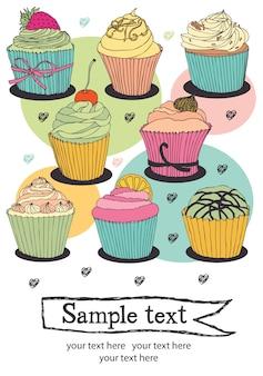 Cupcake kaart