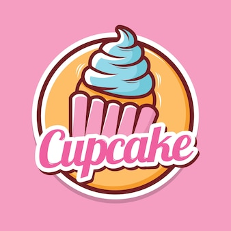Cupcake logo ontwerp