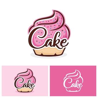 Cupcake logo sjabloon