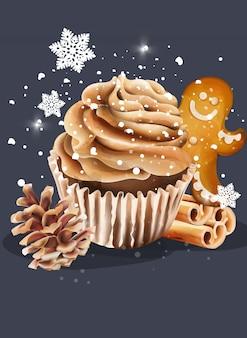 Cupcake met slagroom