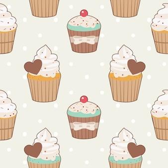 Cupcake naadloze patroon