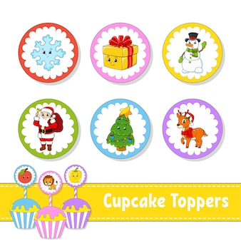 Cupcake toppers illustratie