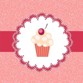 Cupcake uitnodiging achtergrond