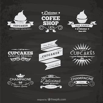 Cupcakes en koffiebar stickers