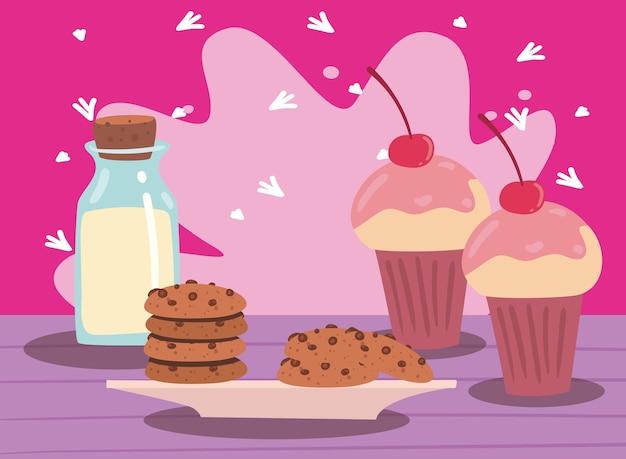 Cupcakes en melk