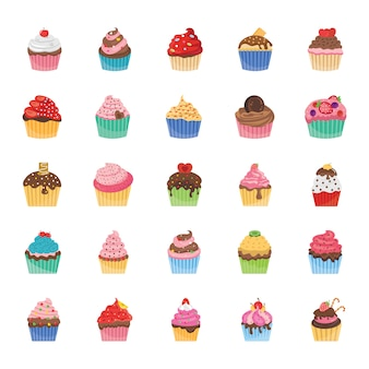 Cupcakes pictogrammen pack
