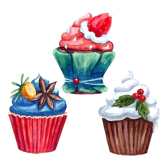 Cupcakes versierd met zoete room