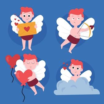 Cupido hand getrokken karakterverzameling