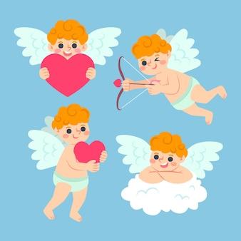 Cupido karakter pack hand getrokken stijl