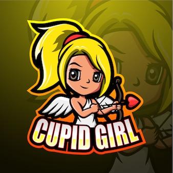 Cupido mascotte esport illustratie