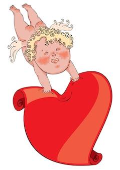 Cupido met hart