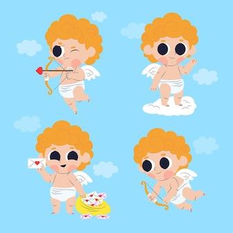 Cupido-tekencollectie in plat ontwerp