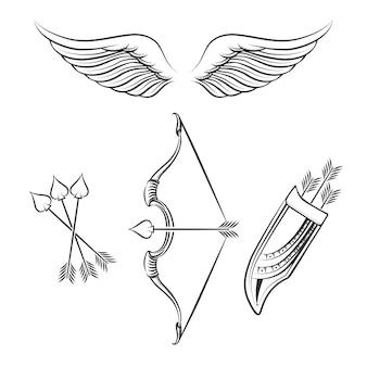 Cupido wapens pictogrammen
