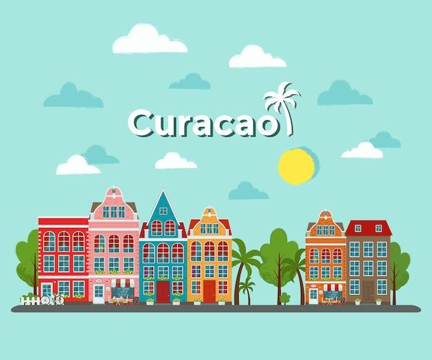 Curaçao eiland flat