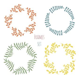 Cure floral frame-set. vector ontwerp