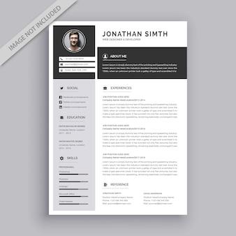 Curriculum sjabloon met platte ontwerp