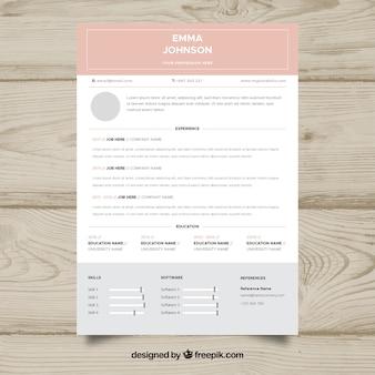 Curriculum-sjabloon met platte ontwerp