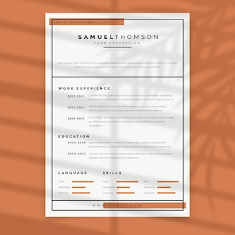 Curriculum vitae minimalistische pastel sjabloon