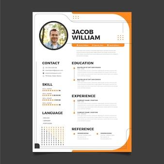 Curriculum vitae redactionele sjabloon