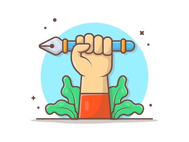 Cursor handgereedschap pen vasthouden