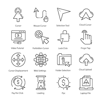 Cursor pictogrammen pack