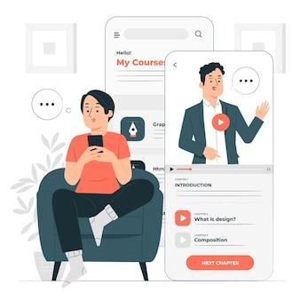 Cursus app concept illustratie