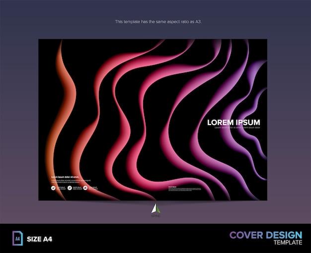 Curvy patroon cover in vector