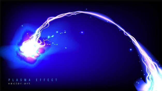 Curvy plasma beam in vector