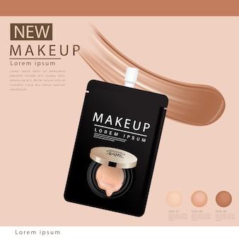 Cushion compact foundation advertenties, aantrekkelijke make-up