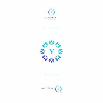 Custom letter (a) monogram en natuur Premium Vector