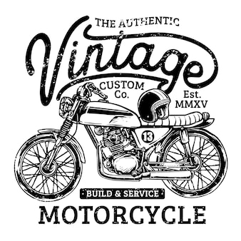 Custom vintage motorfiets garage