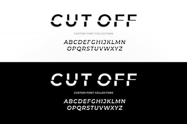 Cut-out lettertype