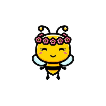 Cute bee characterdesign