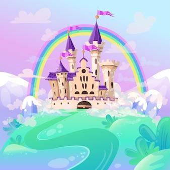 Cute cartoon kasteel.