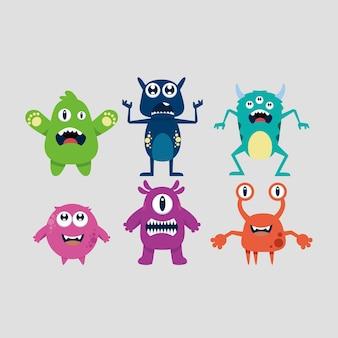 Cute cartoon monster collectie