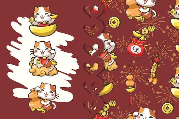 Cute cartoon patroon