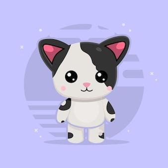 Cute cat illustratie. concept geïsoleerd. platte cartoon stijl