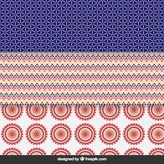 Cute geometrisch patroon collectie