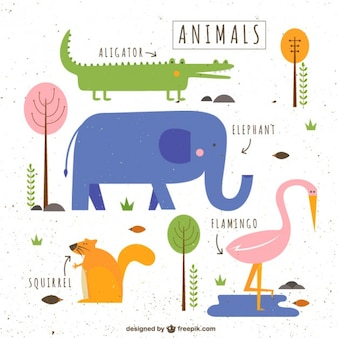 Cute illustrated dieren