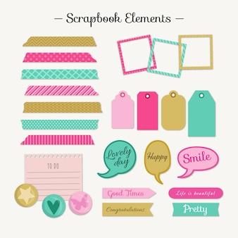 Cute scrapbooking elementen