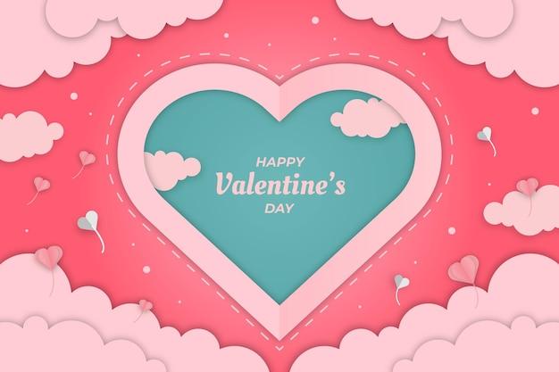 Cute valentine pink love cloud achtergrond