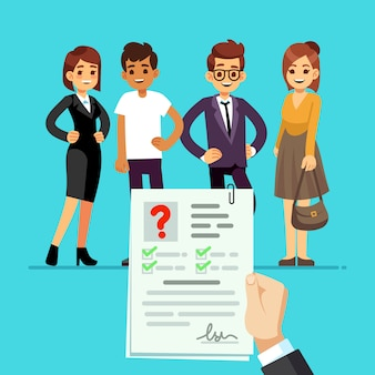 Cv formulier recruiter kiest kandidaten met cv cv