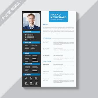 Cv-ontwerp, professionele cv-sjabloon