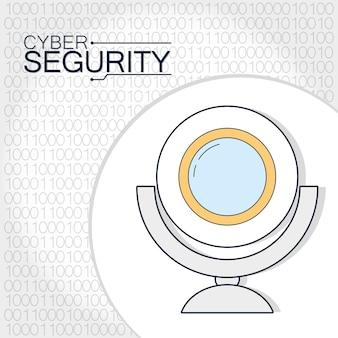 Cyber-beveiliging webcamtechnologie